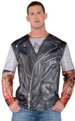 Photo Real Shirt Biker Jacket