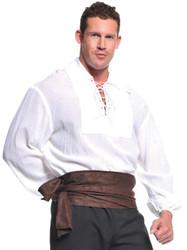 Pirate Shirt White Ad One Sz