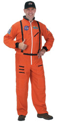 Astronaut Suit Adult Orange Lg