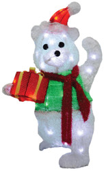 Teddy Bear Takes Gift Box