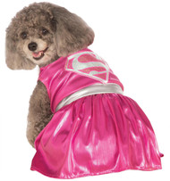 Pet Costume Pink Supergirl Lg