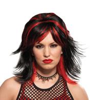 Wig Rocker Unisex Blk/red