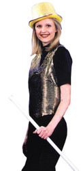 Vest Sequin Gold Large