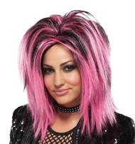Wig Rock Longer Pink