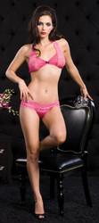 Lace Halter Bra & Panty Pink