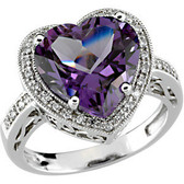 Amethyst Heart Ring - Front