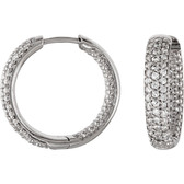 CZ Hoop Earrings Inside/Outside