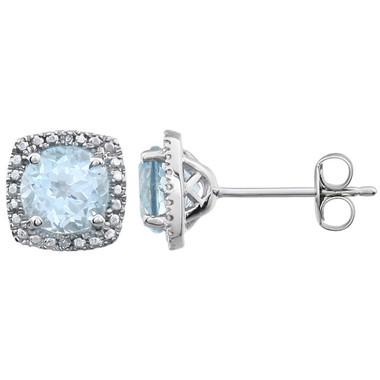 Blue Topaz Earrings - March Birthstone