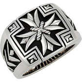 Mens Cross Ring