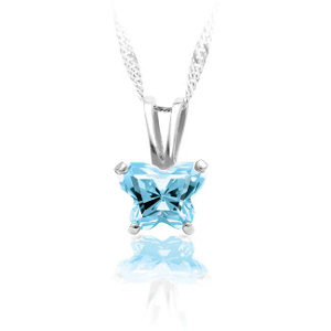 March Birthstone Necklace