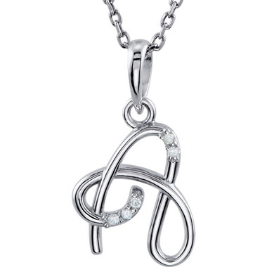 "Diamond Initial ""A"" Necklace"