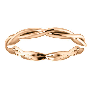 14kt Rose Gold Woven Stackable Band