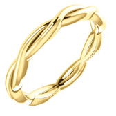 Size 8 - 14K Yellow Gold Infinity-Inspired Wedding Band with Free Shipping