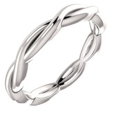 Size 4.5 - Platinum Infinity-Inspired Wedding Band or Stackable Ring