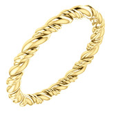 14k Yellow Gold Rope Eternity Band