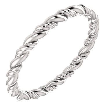 14k White Gold Rope Band