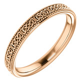 14kt Rose Gold Celtic Inspired Band