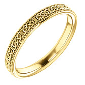 14k yellow gold celtic inspire wedding band