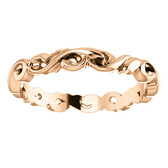 14K Rose 3 mm Sculptural-Inspired Scroll Design