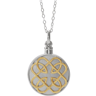 Sterling Silver 14K Yellow Gold-Plated Celtic-Inspired Memorial Ash Holder