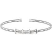 Double Simulated Diamond Cuff Bracelet