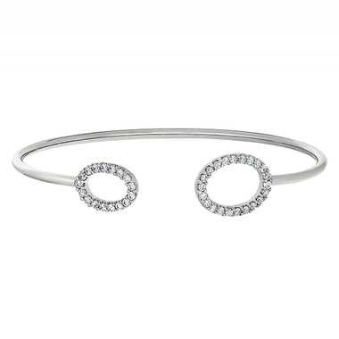 Sterling Silver Flexible Cuff Bracelet.