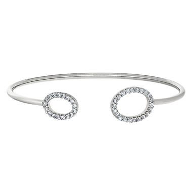 Sterling Silver Flexible Cuff Bracelet.