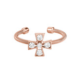 Rose Gold Finish Cross Ring