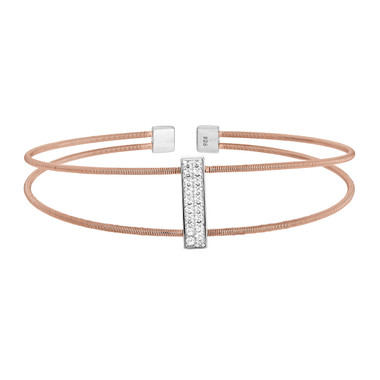 Rose Gold Finish Cuff Bracelet