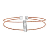 Rose Gold Finish Cuff Bracelet