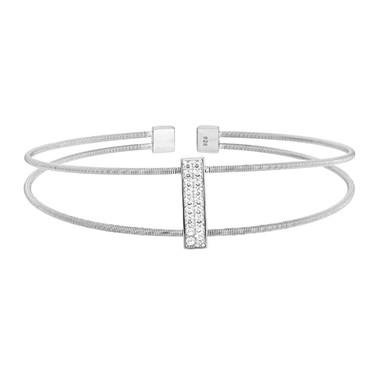 Silver Double Row Cuff Bracelet