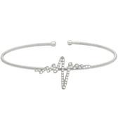 Silver Heartbeat Cuff Bracelet