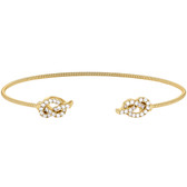 Yellow Gold Finish Love Knot Cuff Bracelet