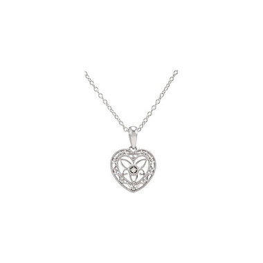 Filigree Heart Necklace Sterling Silver