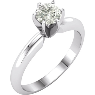 1/2 ct solitaire Charles and Colvard Moissanite engagement ring 14k white gold
