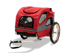 Medium Steel Frame HoundAbout Classic Pet Bicycle Trailer has a wide wheel base for superior stability and its design sits lower for easier entry and exit for your pet