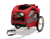 Medium Steel Frame HoundAbout Classic Pet Bicycle Trailer has a pet weight limit of 50 lbs.