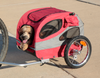 """Medium Steel Frame HoundAbout Classic Pet Bicycle Trailer has 16"""" air-filled tires provide a smooth ride and are off-road capable"""