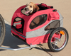 Medium Steel Frame HoundAbout Classic Pet Bicycle Trailer has a front window with zippered waterproof vinyl windscreen layer and zippered breathable mesh screen layer