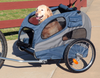"Large Steel Frame Houndabout Classic Pet Bicycle Trailer has 20"" air-filled tires provide a smooth ride and are off-road capable"