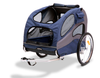 Large Steel Frame Houndabout Classic Pet Bicycle Trailer has a roomy sunroof and a large front window with zippered waterproof vinyl windscreen layer and zippered breathable mesh screen layer