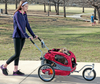 Small HoundAbout Stroller Kit shown installed on the medium Houndabout Trailer (sold separately)