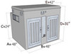 Extra Tall Top Storage Aluminum K9 Cooler Dog Box With Water Tank Dimensions