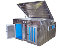 Extra Tall Top Storage Aluminum K9 Cooler Dog Box With Water Tank is well suited to taller bird dogs