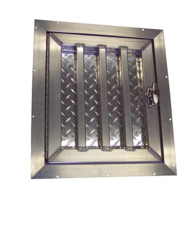 Short Aluminum Dog Box Door Hinged Left