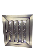 Tall Aluminum Dog Box Door Hinged Right