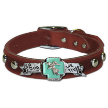 """In Dog We Trust"" Custom Made Dog Collar"