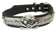 """Dog Is My Co-Pirate"" Custom Made Dog Collar"