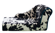 Trendy cow print dog or cat chaise bed