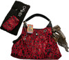 Red Runaround Pet Shoulder Tote - Rhinestone charm and key fob NOT included